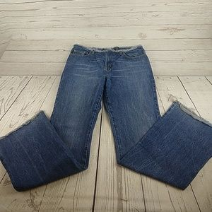 Express Flare Raw Edge Jeans 7/8